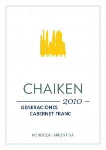 Chaiken Vineyards Generaciones Cabernet Franc wine label