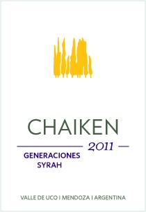 Chaiken Vineyards Generaciones Syrah 2011 label
